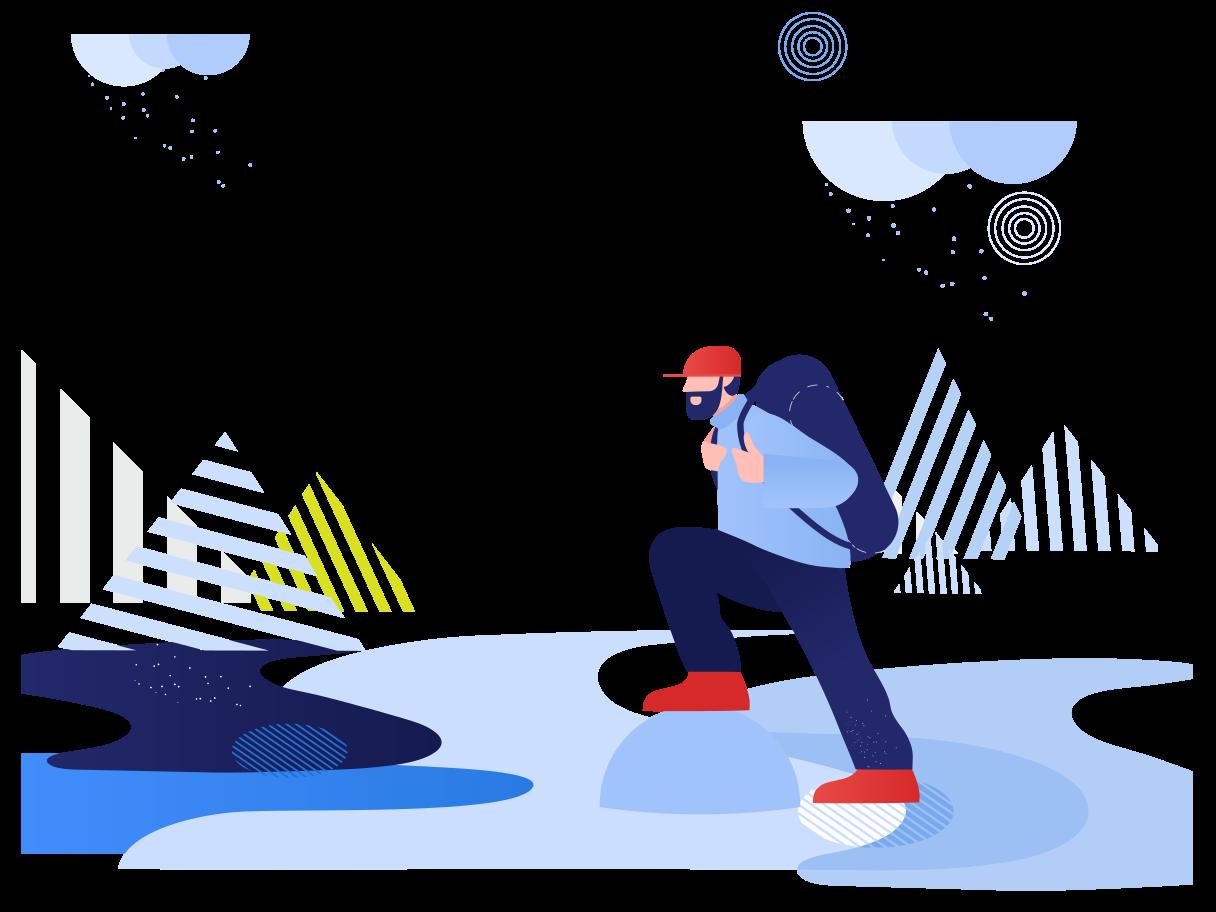 Wandern Clipart-Grafik als PNG, SVG