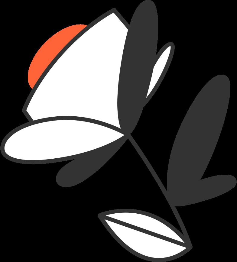 Ilustración de clipart de Éxito flor de éxito en PNG, SVG