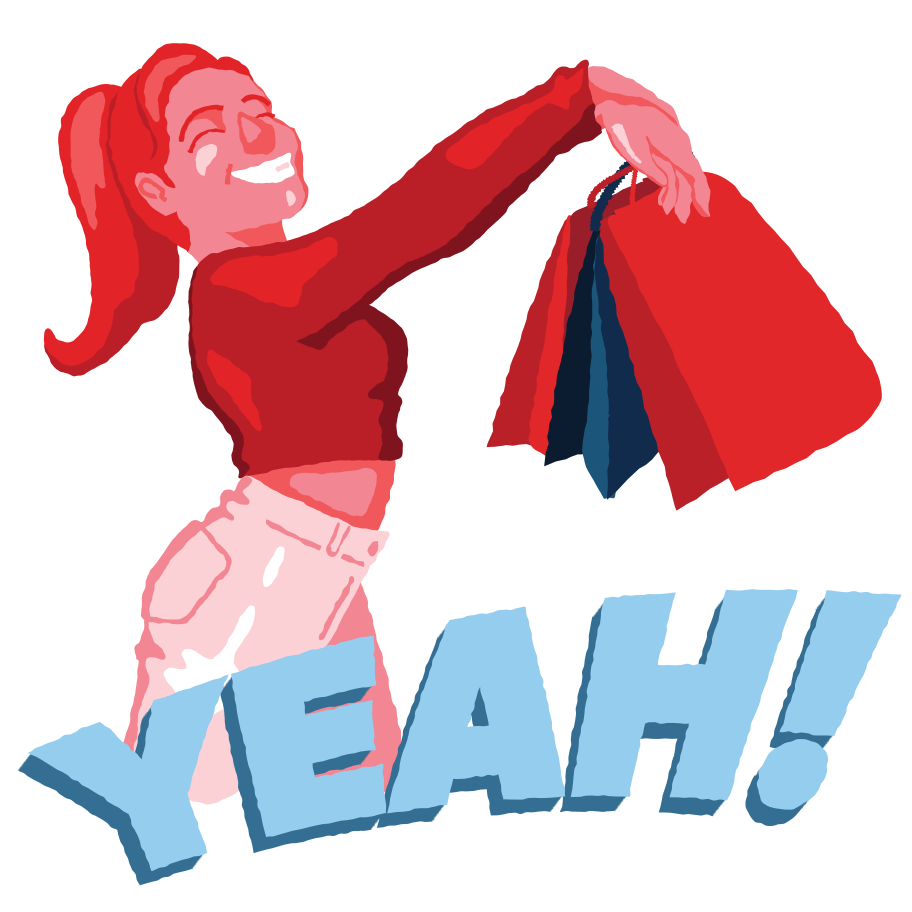 Joy of shopping Clipart illustration in PNG, SVG
