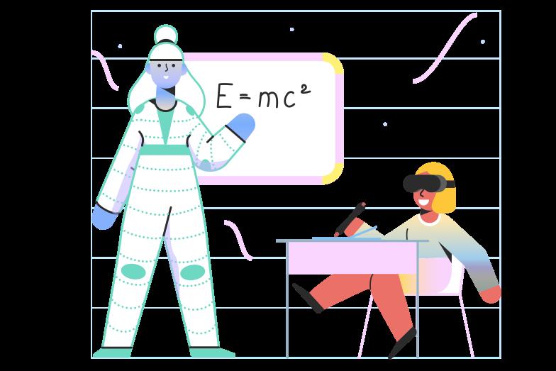 Education in VR Clipart illustration in PNG, SVG