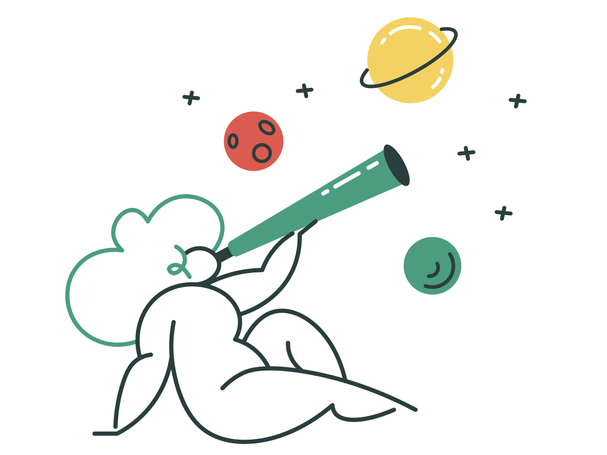 Exploring space Clipart illustration in PNG, SVG