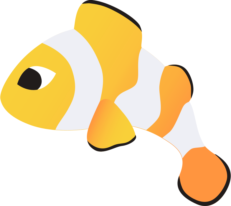 clown fish amphiprion Clipart illustration in PNG, SVG