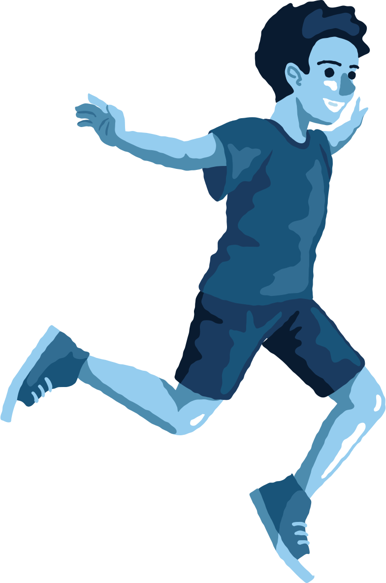 boy jumping profile Clipart illustration in PNG, SVG