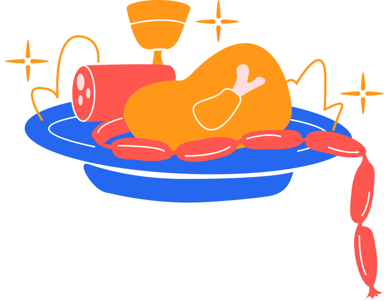 food dish Clipart illustration in PNG, SVG