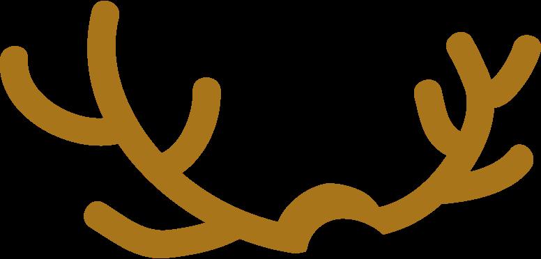 deer antlers Clipart illustration in PNG, SVG
