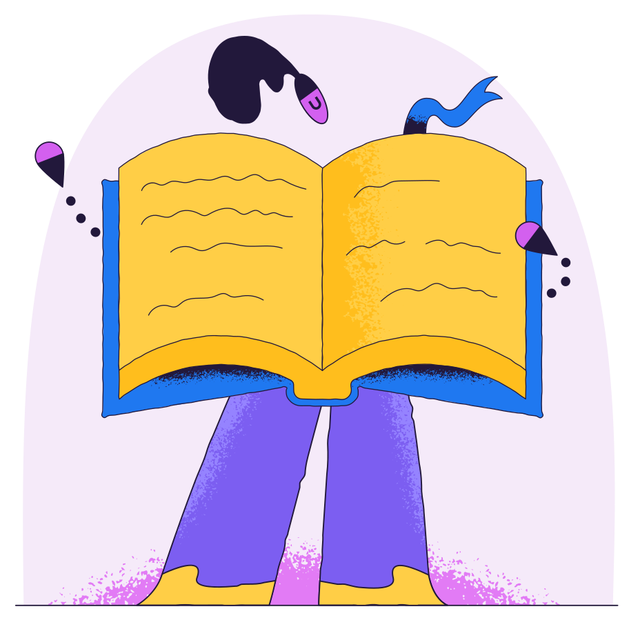 Person like an open book Clipart illustration in PNG, SVG