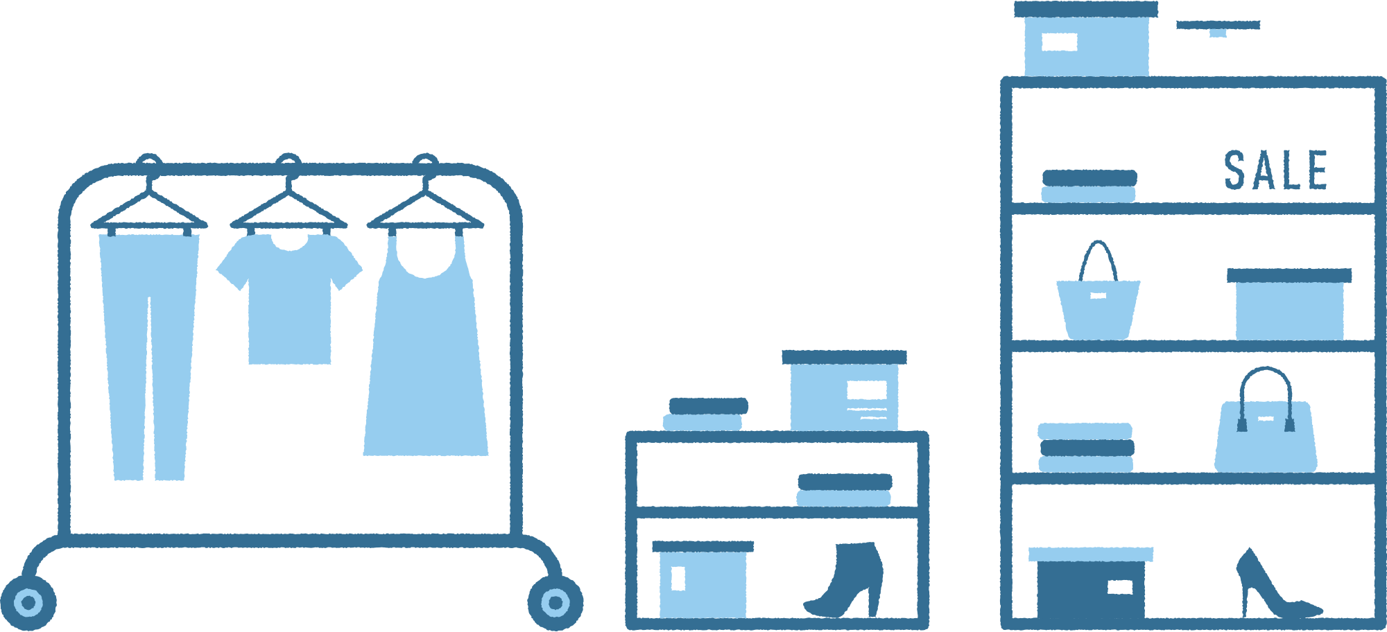 clothing shop Clipart illustration in PNG, SVG