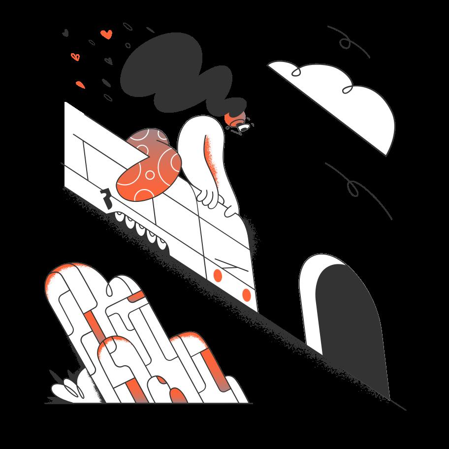 Travelling by train Clipart-Grafik als PNG, SVG