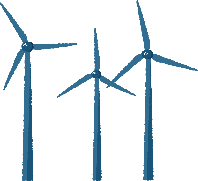 wind turbines Clipart illustration in PNG, SVG