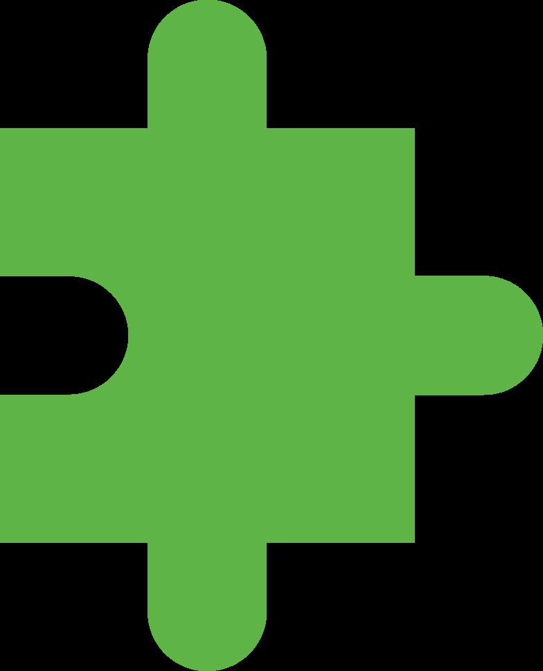 Pezzo di puzzle verde Illustrazione clipart in PNG, SVG