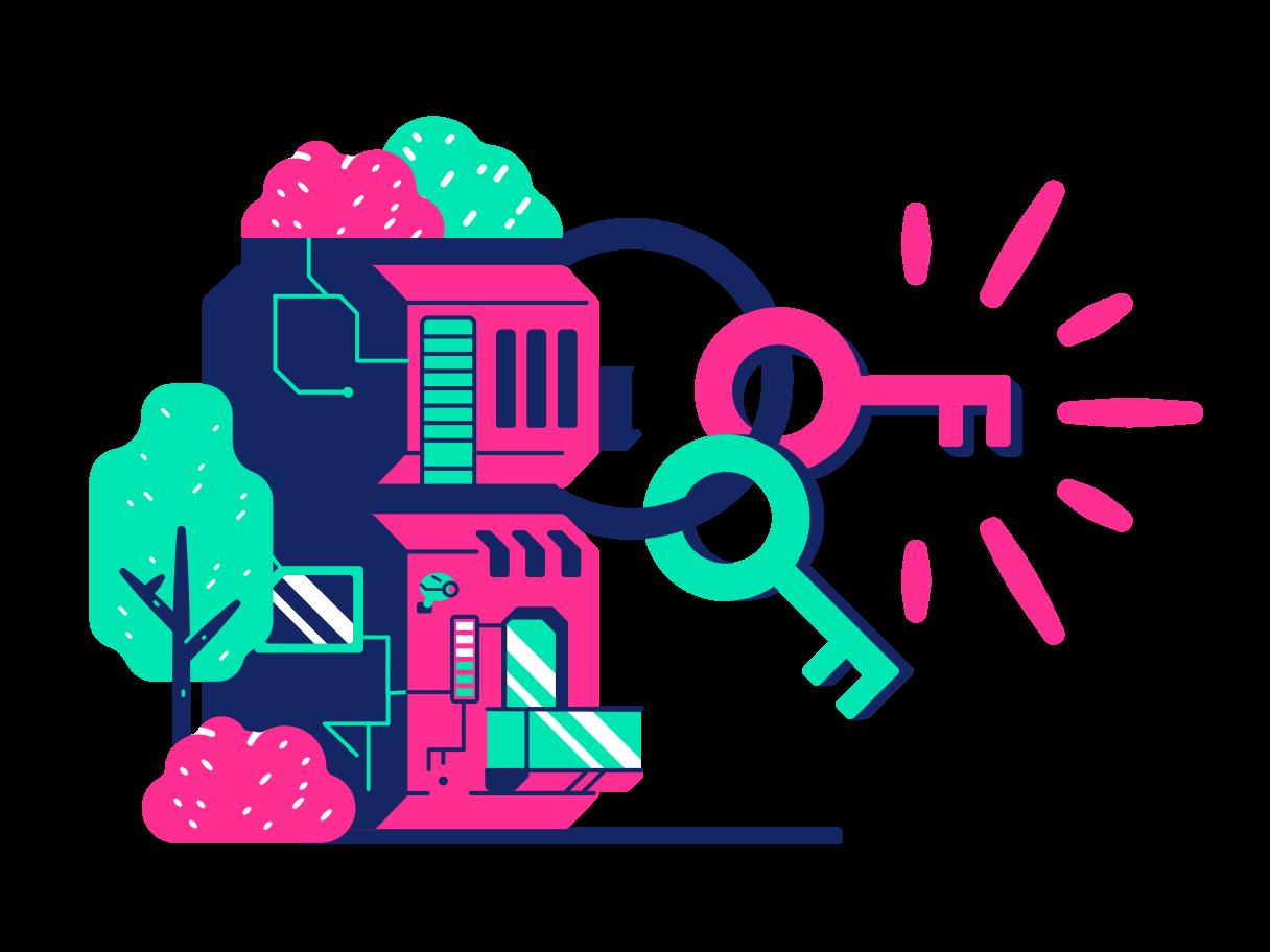 New house keys Clipart illustration in PNG, SVG