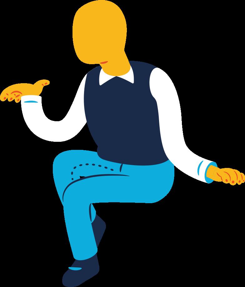 old man sitting Clipart illustration in PNG, SVG
