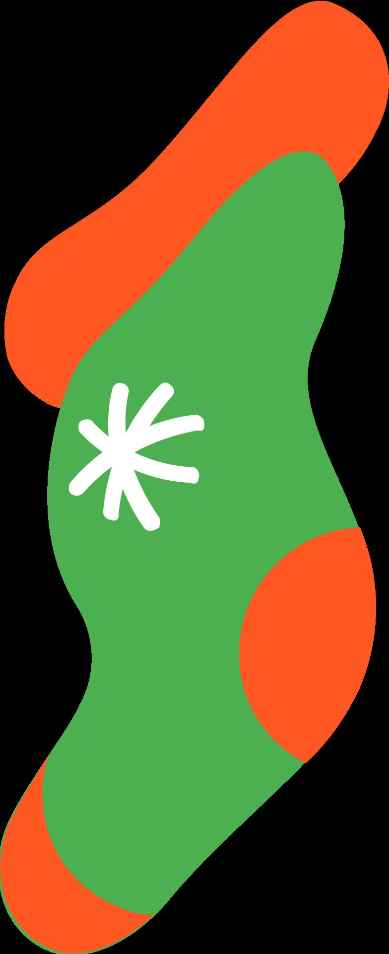 gift sock Clipart illustration in PNG, SVG