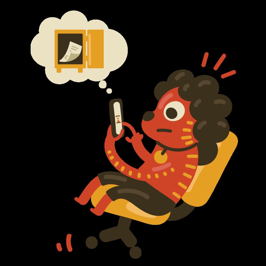 Saving information Clipart illustration in PNG, SVG