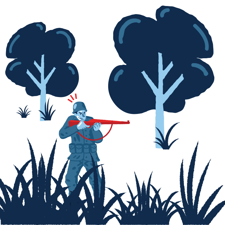 Shoots from an ambush Clipart illustration in PNG, SVG