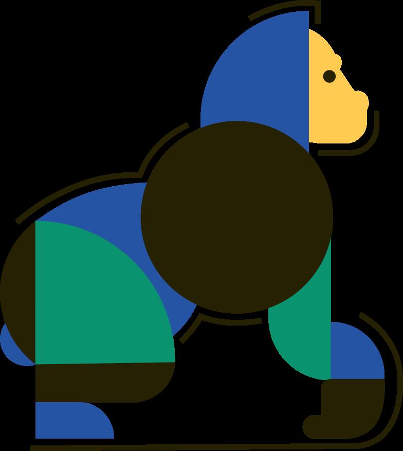 gorilla Clipart illustration in PNG, SVG