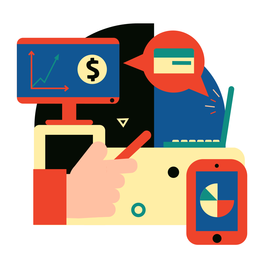 Financial analytics Clipart illustration in PNG, SVG