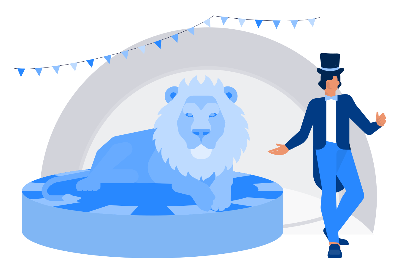 At the circus Clipart illustration in PNG, SVG