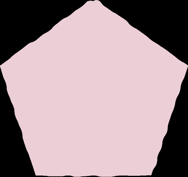 pentagon pink Clipart illustration in PNG, SVG