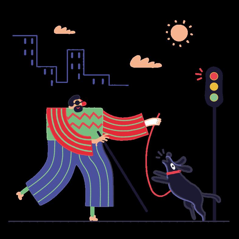 Guide dog Clipart illustration in PNG, SVG