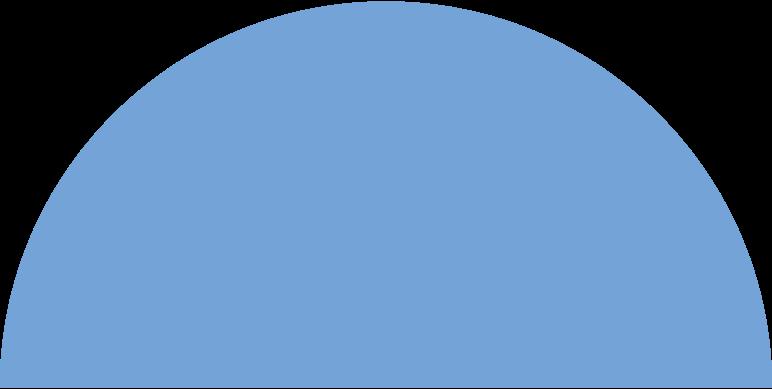 Ilustración de clipart de semicircle blue en PNG, SVG