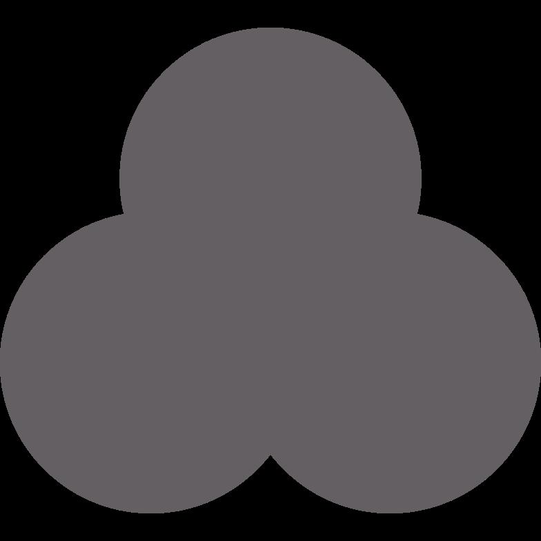 trefoil grey Clipart illustration in PNG, SVG