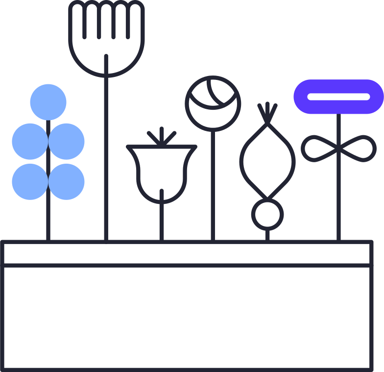 list is empty  flowers in pot Clipart illustration in PNG, SVG