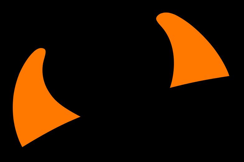 horns for halloween Clipart illustration in PNG, SVG
