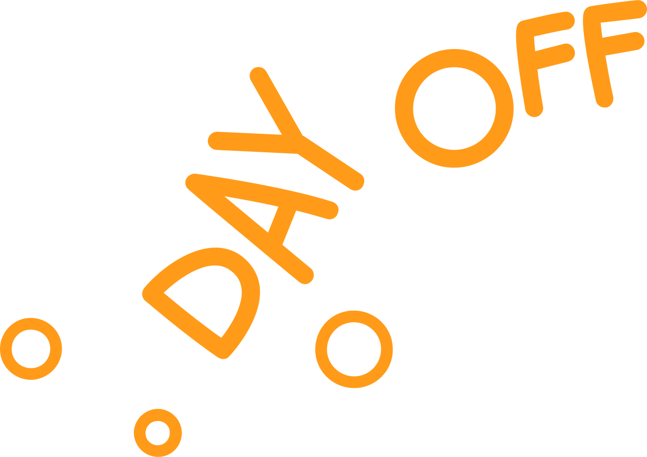 day off Clipart illustration in PNG, SVG