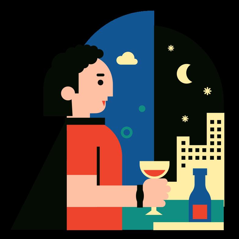 Vampire Evening Clipart illustration in PNG, SVG