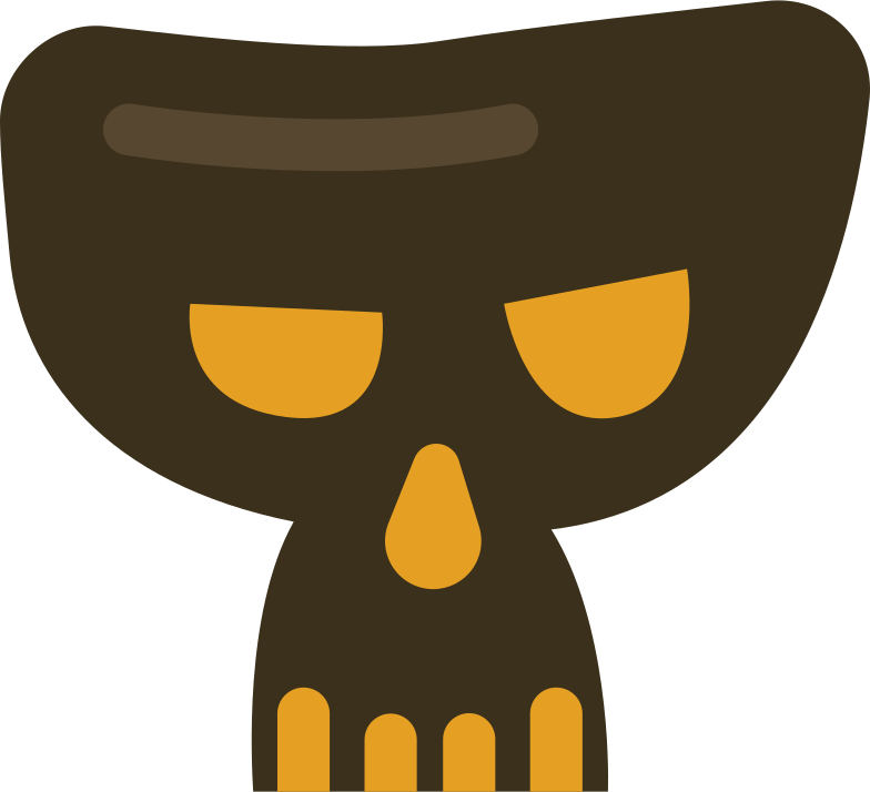 scary skull Clipart illustration in PNG, SVG