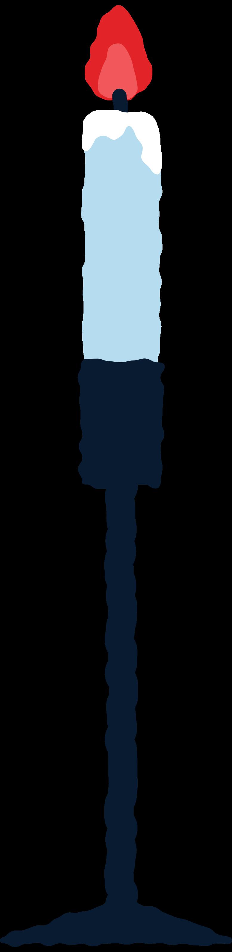candle in chandelier short Clipart illustration in PNG, SVG