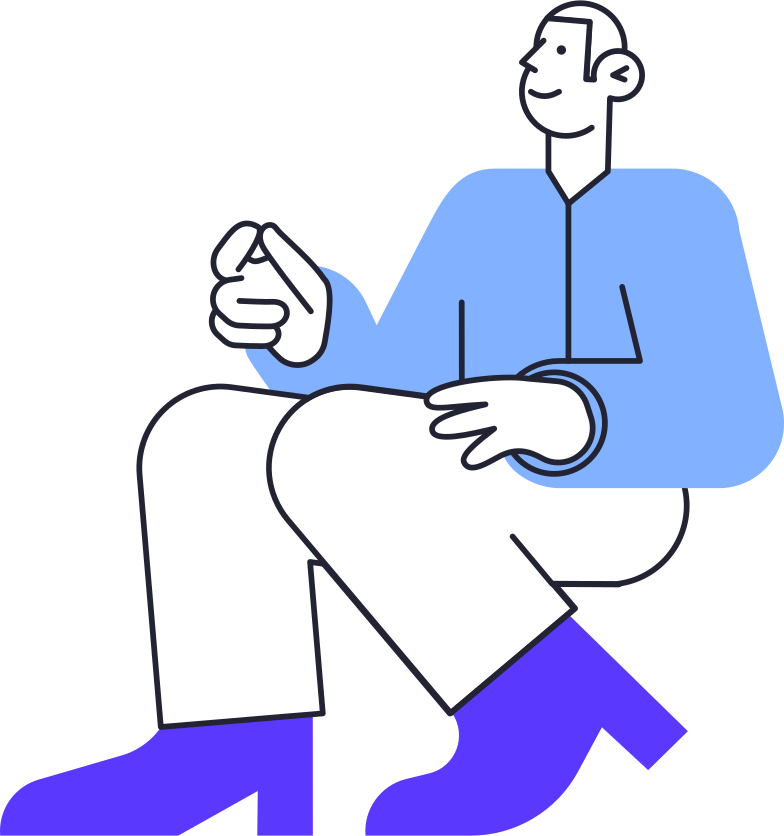 order completed  man Clipart illustration in PNG, SVG