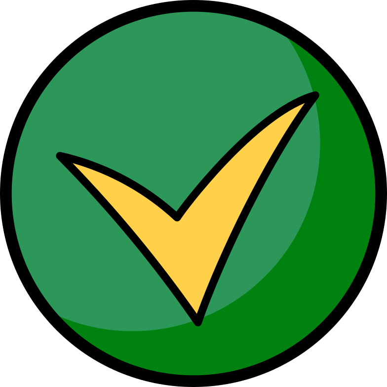 checkmark round Clipart illustration in PNG, SVG