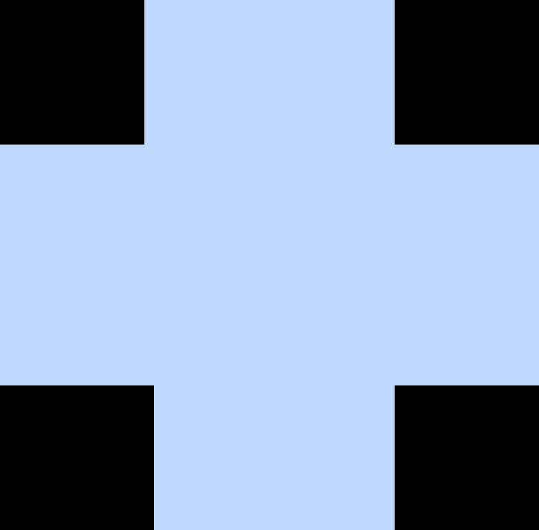 cross blue Clipart illustration in PNG, SVG