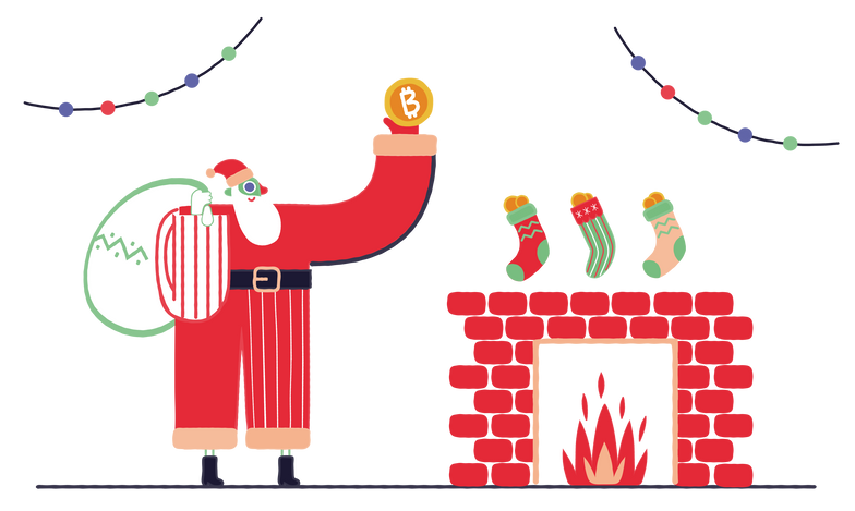 style Christmas Bitcoins Vector images in PNG and SVG | Icons8 Illustrations