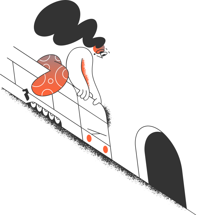 girl on the train and the tunnel Clipart illustration in PNG, SVG