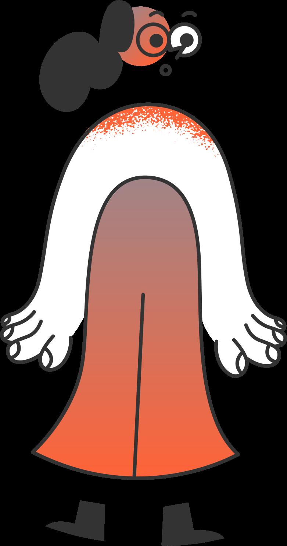 delete confirmation 2  girl Clipart illustration in PNG, SVG