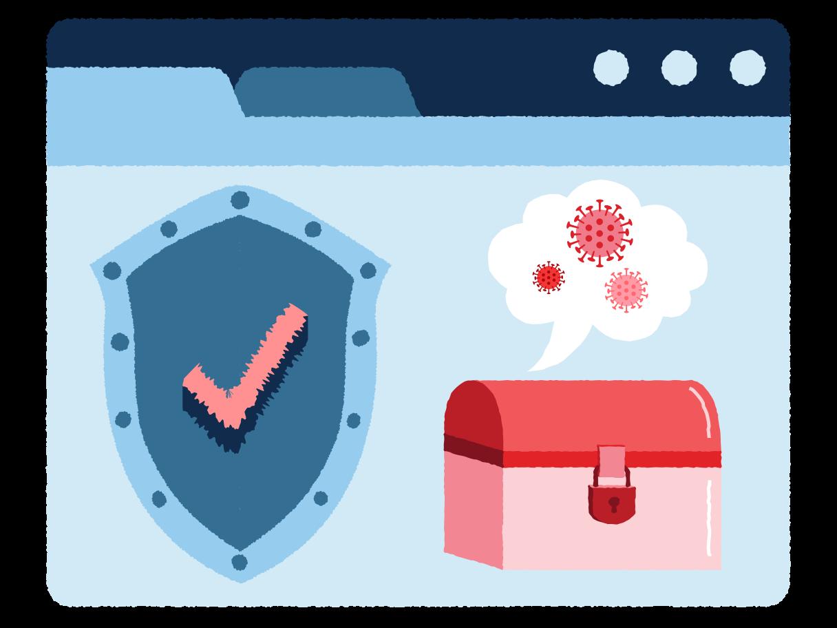 Virus removal Clipart illustration in PNG, SVG