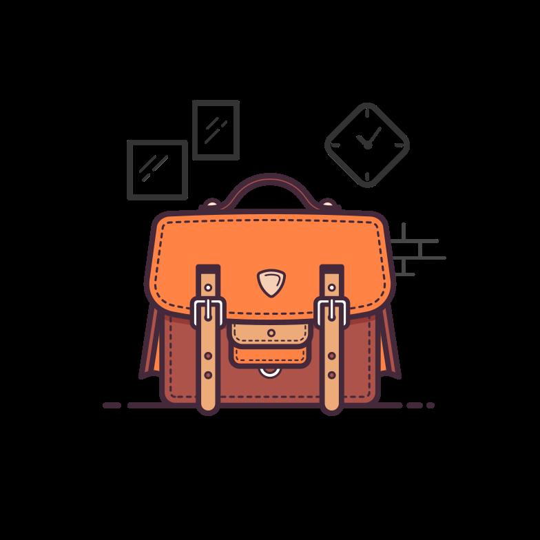 Office bag Clipart illustration in PNG, SVG
