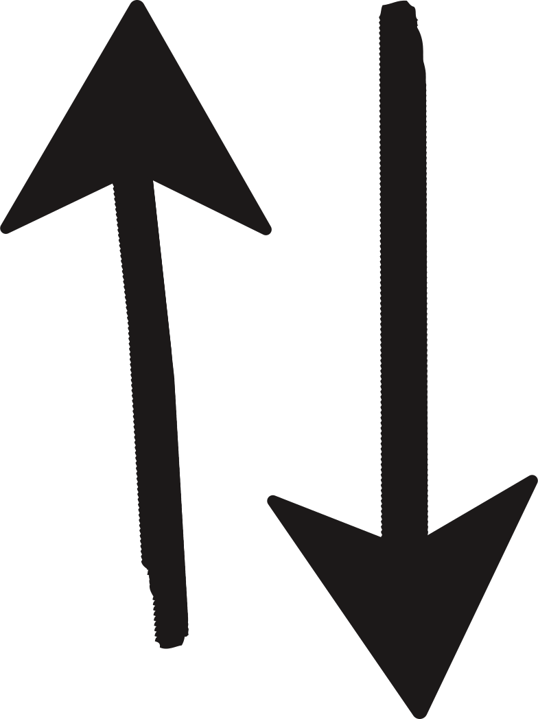 black arrow two Clipart illustration in PNG, SVG