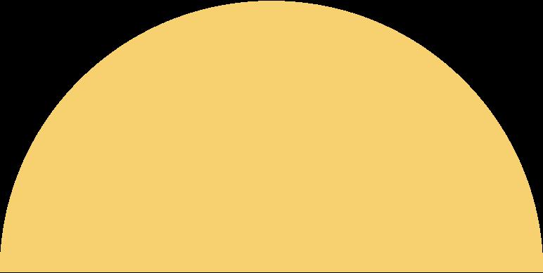Ilustración de clipart de semicircle yellow en PNG, SVG