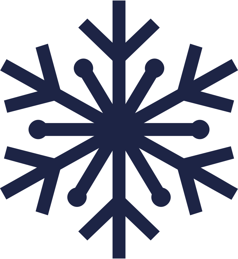 snowflake 1 line Clipart illustration in PNG, SVG