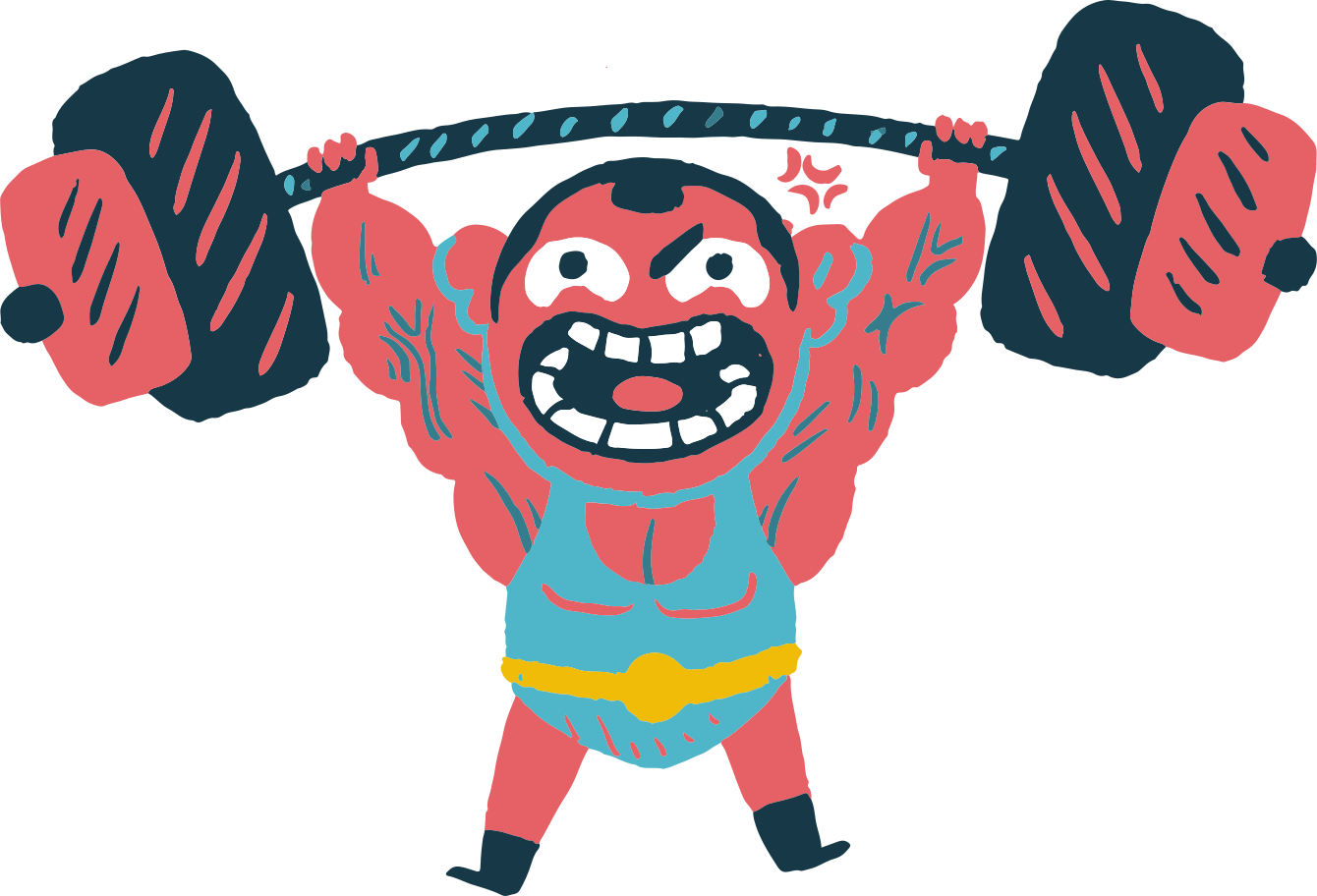 powerlifting Clipart illustration in PNG, SVG
