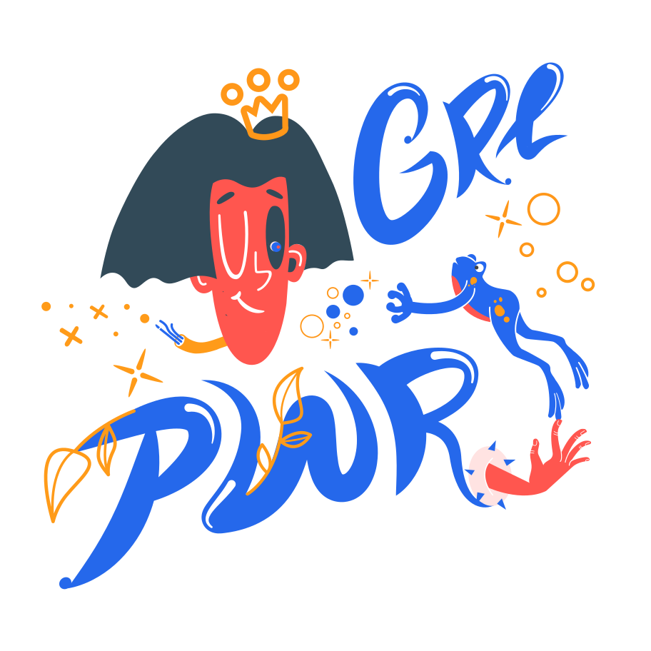 Girl power Clipart illustration in PNG, SVG