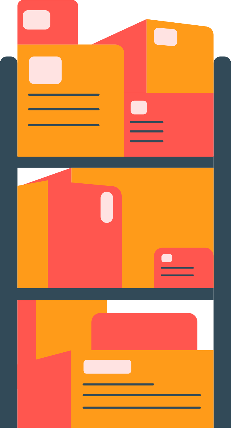 style rack with boxes Vector images in PNG and SVG | Icons8 Illustrations
