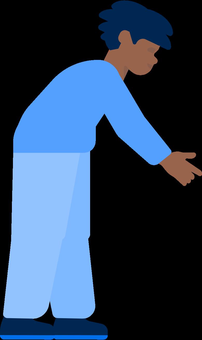 Menino escolhendo smth Clipart illustration in PNG, SVG