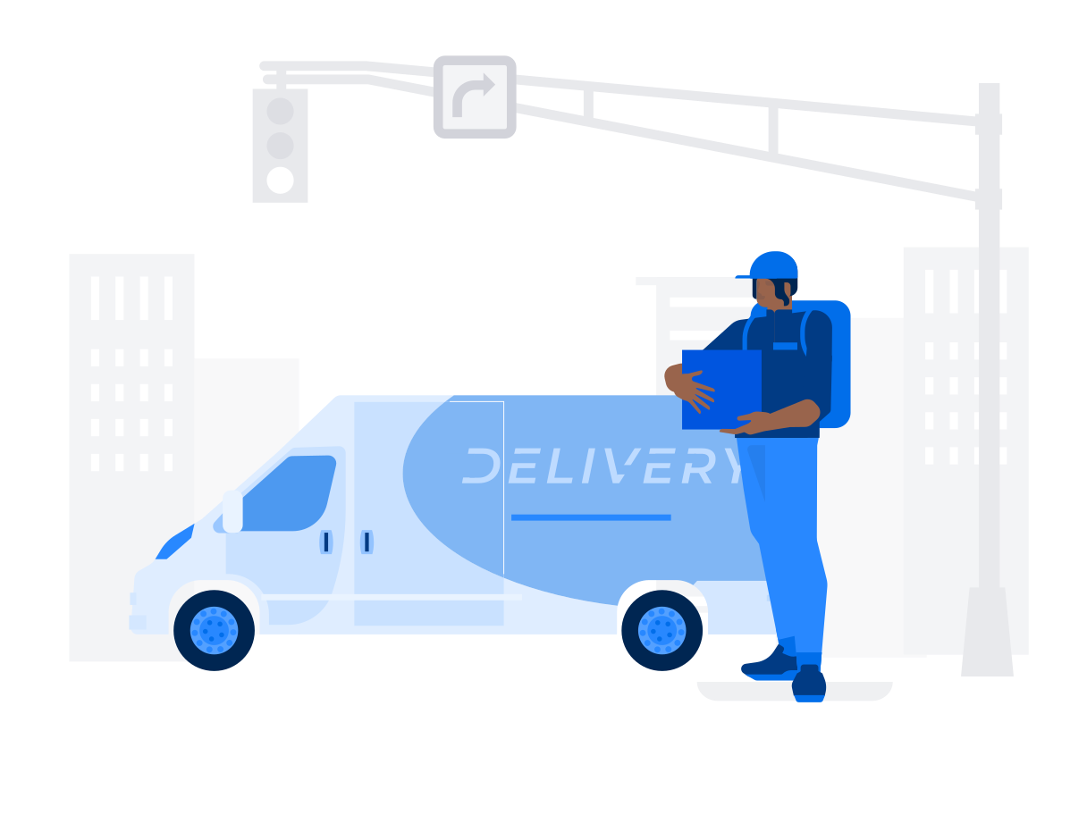 style Courier Delivery Vector images in PNG and SVG | Icons8 Illustrations