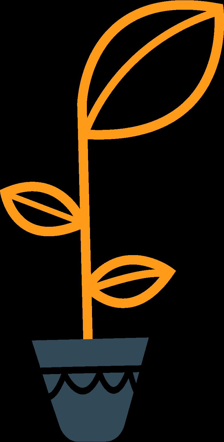 kingdom flower in a pot Clipart illustration in PNG, SVG
