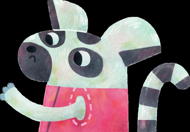 lemur Clipart illustration in PNG, SVG